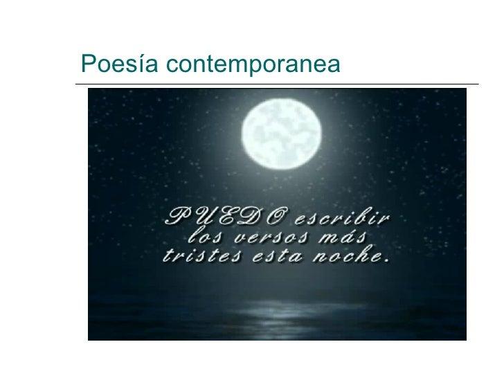 Poesía contemporanea