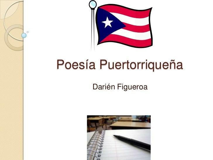 Poesía Puertorriqueña      Darién Figueroa