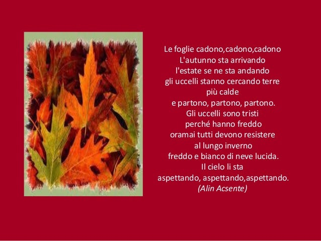 (Giorgia Quaresima); 5. Le Foglie Cadono ...