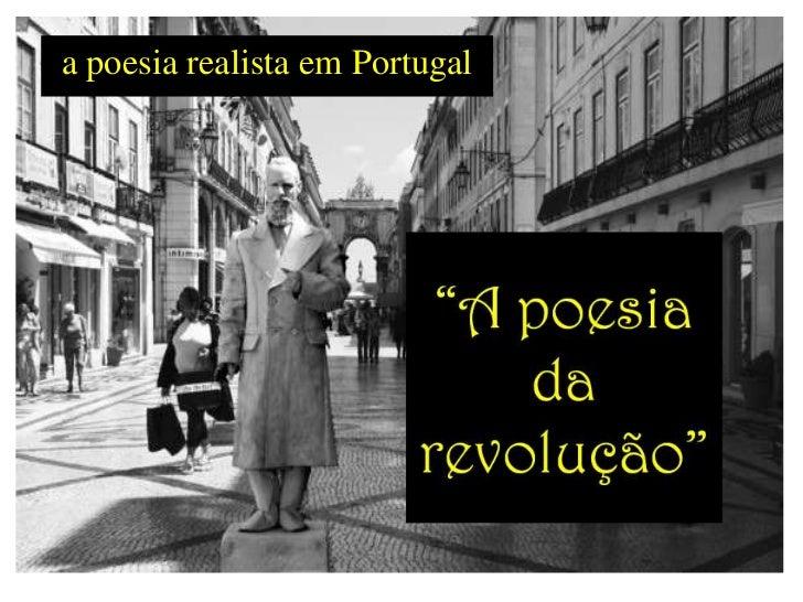 a poesia realista em Portugal