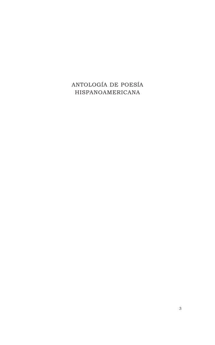 ANTOLOGÍA DE POESÍA HISPANOAMERICANA                      3