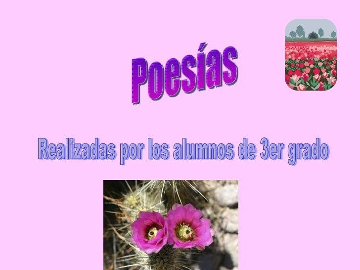 Poesías Realizadas por los alumnos de 3er grado