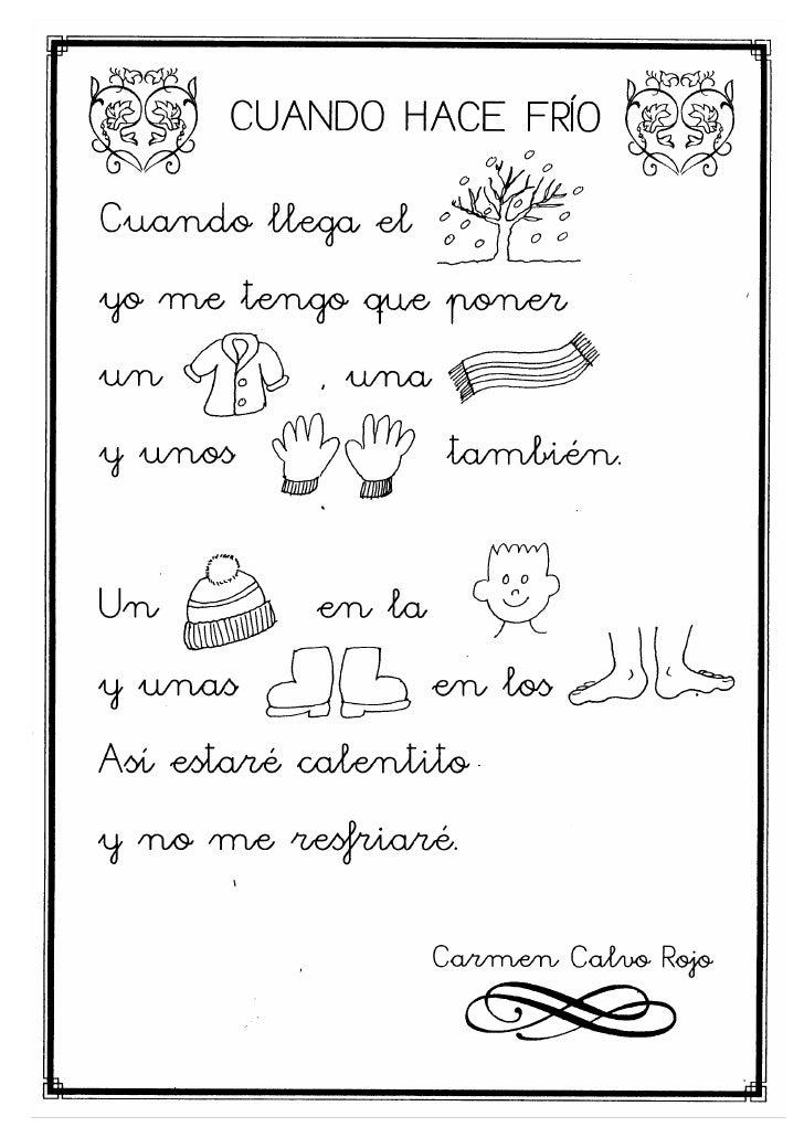 Poesias infantiles for Poemas de invierno