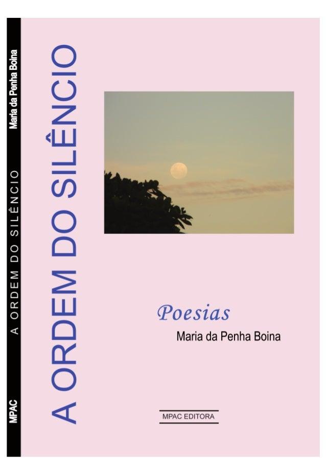 A ORDEM DO SILÊNCIO Poesias