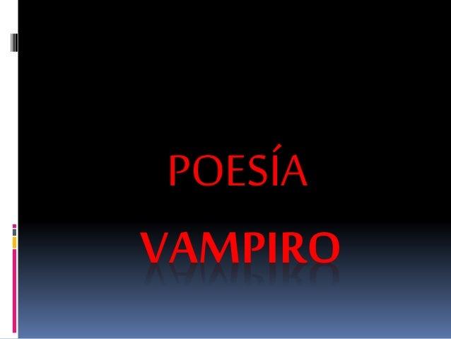 POESÍA  VAMPIRO