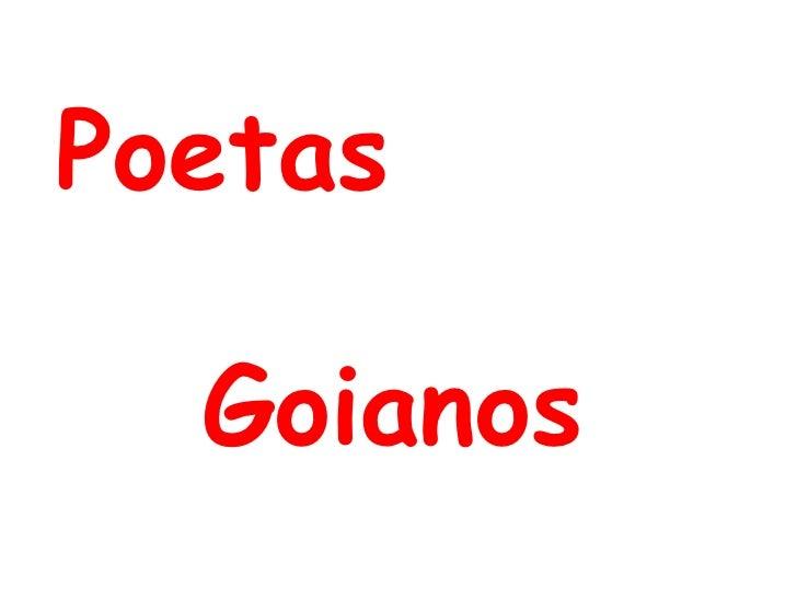 Poetas  Goianos