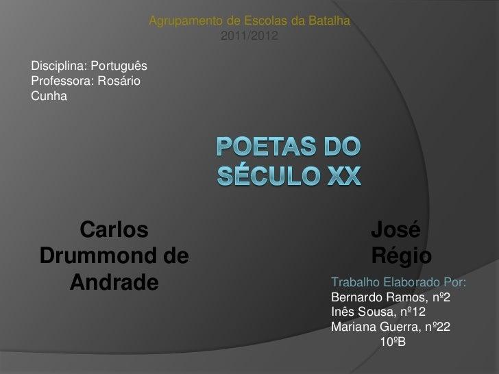 Agrupamento de Escolas da Batalha                                   2011/2012Disciplina: PortuguêsProfessora: RosárioCunha...