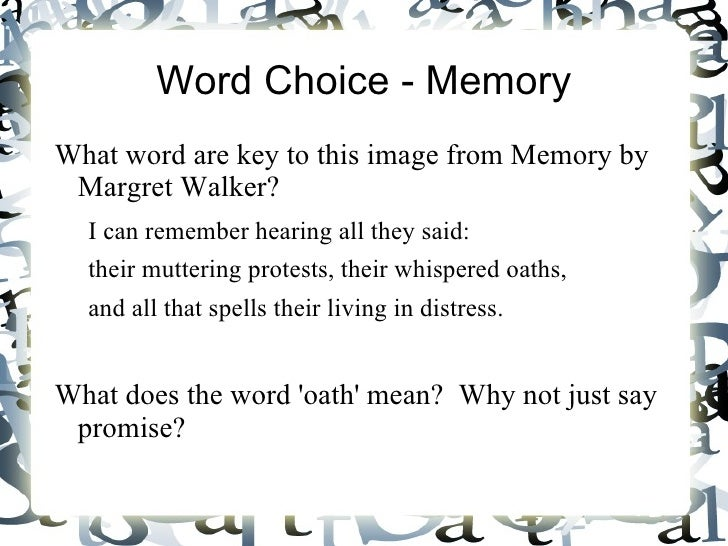 why is word choice important