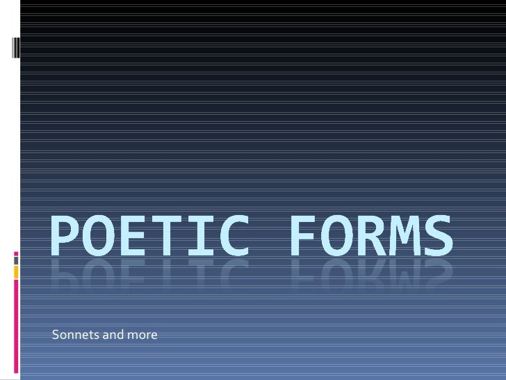 Sonnets and more