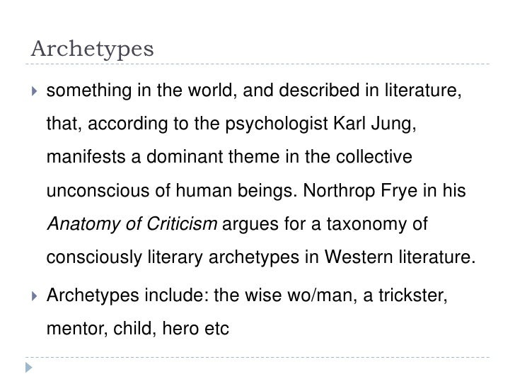 the trickster karl jung archetype essay Archetypal criticism gets its impetus from psychologist carl jung, who postulated that humankind has a collective unconscious, a kind of universal psyche, which is manifested in dreams and myths and which harbors themes and images that we all inherit.