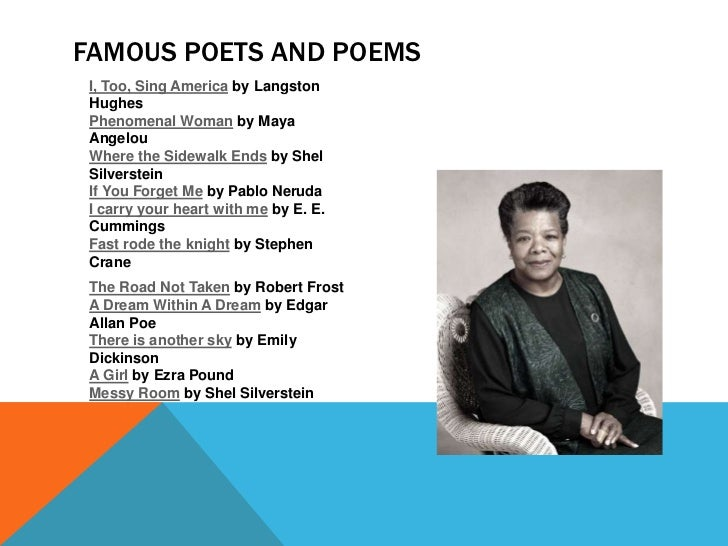Famous Poets And Poems