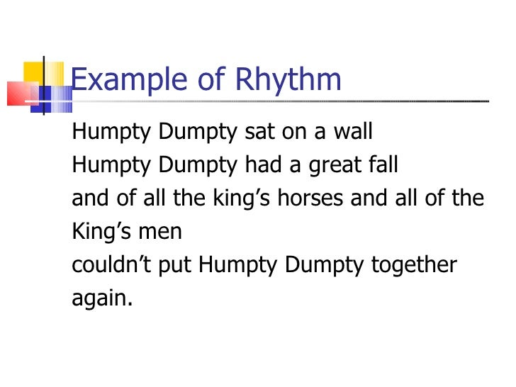 Rhyme Rhythm And Alliteration
