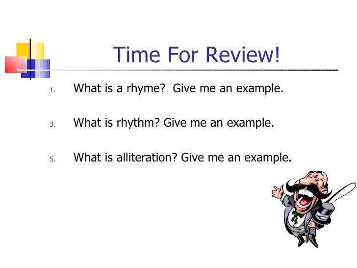 Rhyme Rhythm And Alliteration