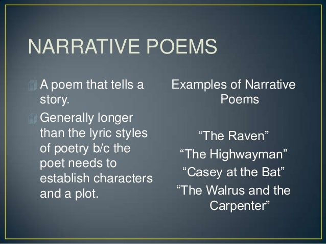 narrative poem examples - photo #13