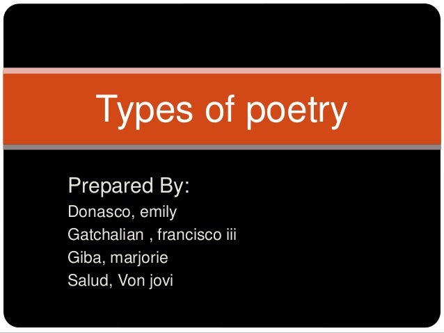styles of poetry writing