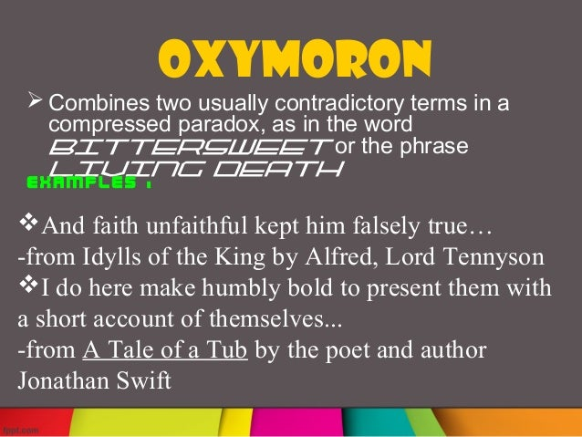 Examples Of Oxymorons In Literature Gallery Example Cover Letter
