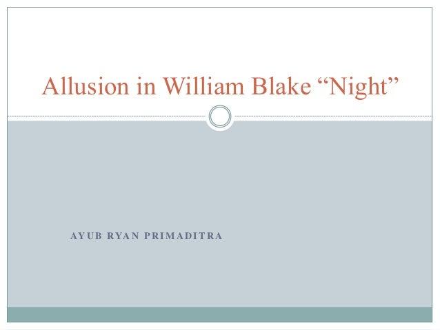 william blake night