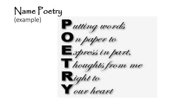 Name Poems | Examples of Name Poetry