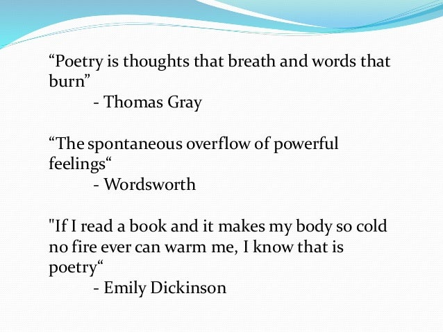 use of literary devices in emily dickinson poems essay A line break refers to where an author has chosen to end one line in a poem and  begin  this very short poem by emily dickinson—it only consists of the above.