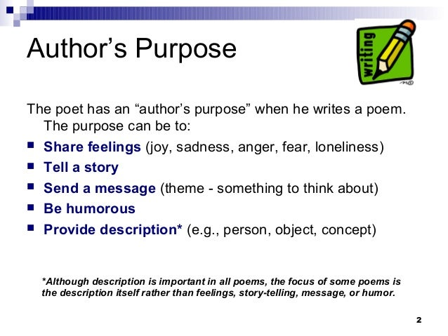purpose of the poem of the
