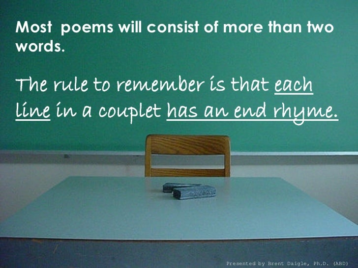 Poetry Couplets English Language Arts