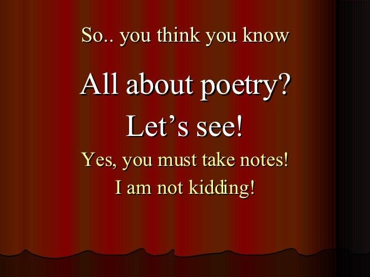 Poetry Terms Slide 2
