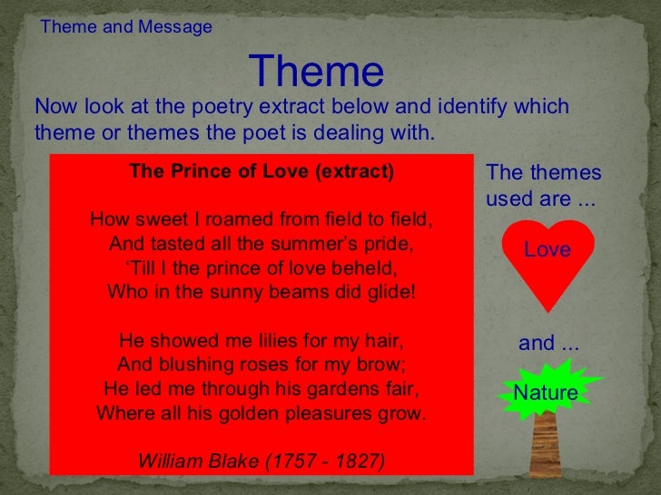 love as a theme in a poem Donne equates physical love and spiritual love in many of his works to this end, donne often suggests that the love he has for a particular beloved in a particular john donne: poems study guide contains a biography of john donne, literature essays, quiz questions, major themes, characters, and a full.