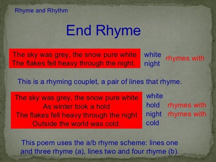 when i am dead my dearest rhyme scheme