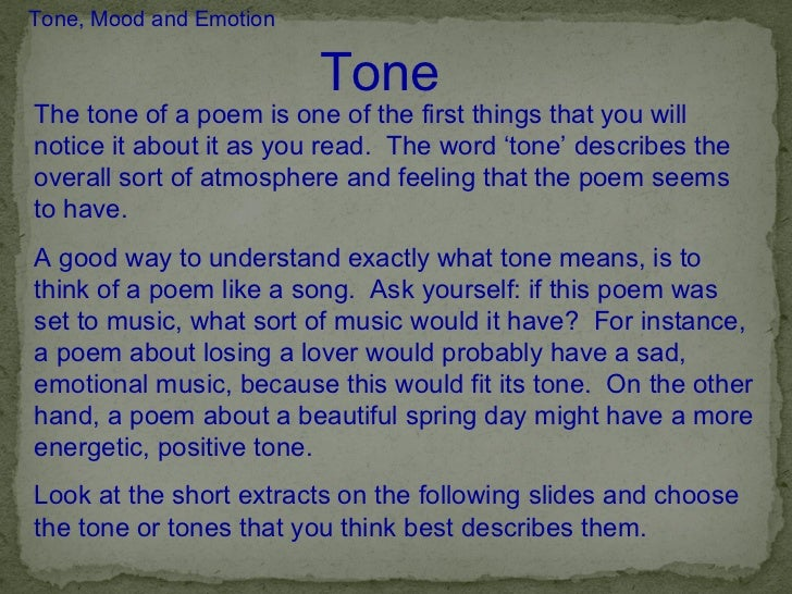 sad tone analysis Tone and mood you might think  tone as the attitude of the author toward the audience usually  happy, sad, peaceful, etc mood is the.