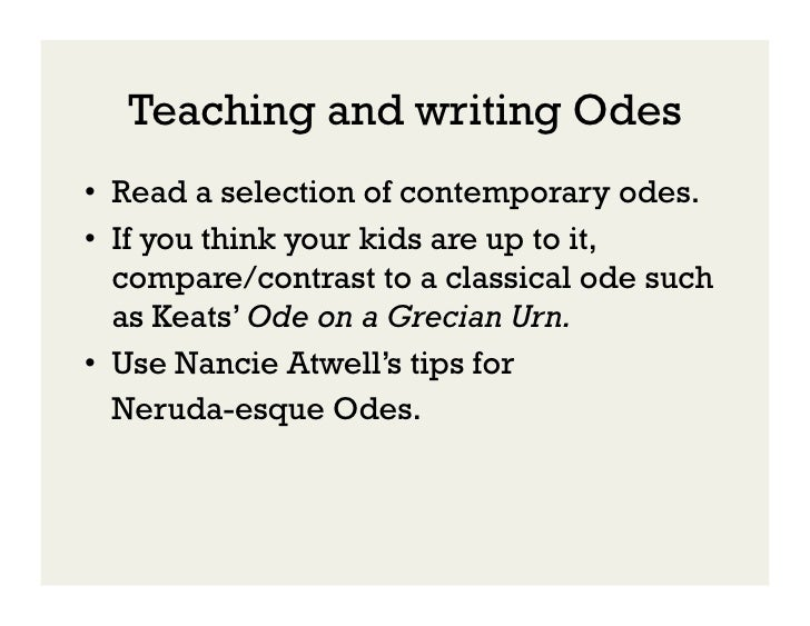 write an essay on keats imagery as used in the odes