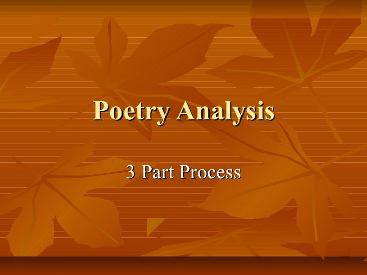 Poetry Analysis  3 Part Process
