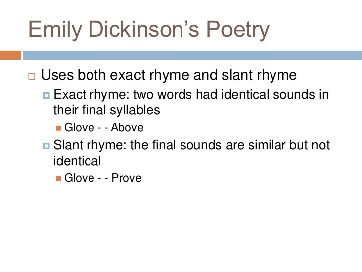 Poetry and emily dickinson