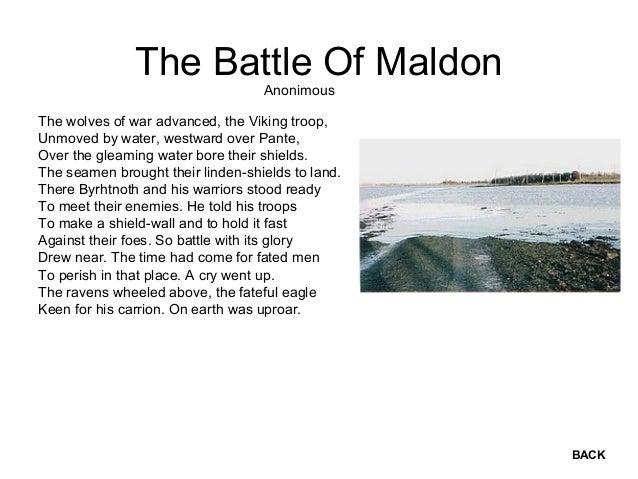 the battle of maldon poem pdf