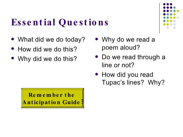 Poetry anticipation guide