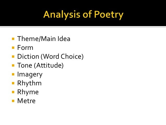 Analysis of introduction to poetry
