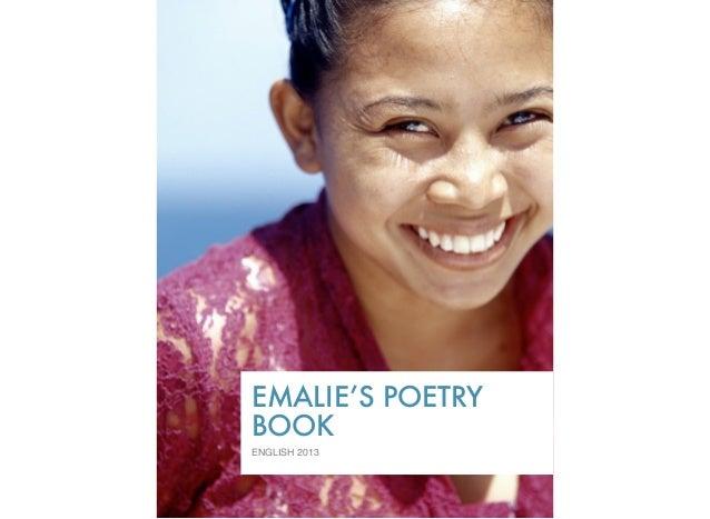 EMALIE'S POETRYBOOKENGLISH 2013