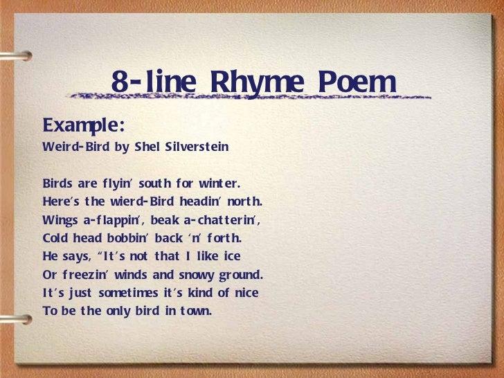 8 Line Rhyming Poem - Laptuoso