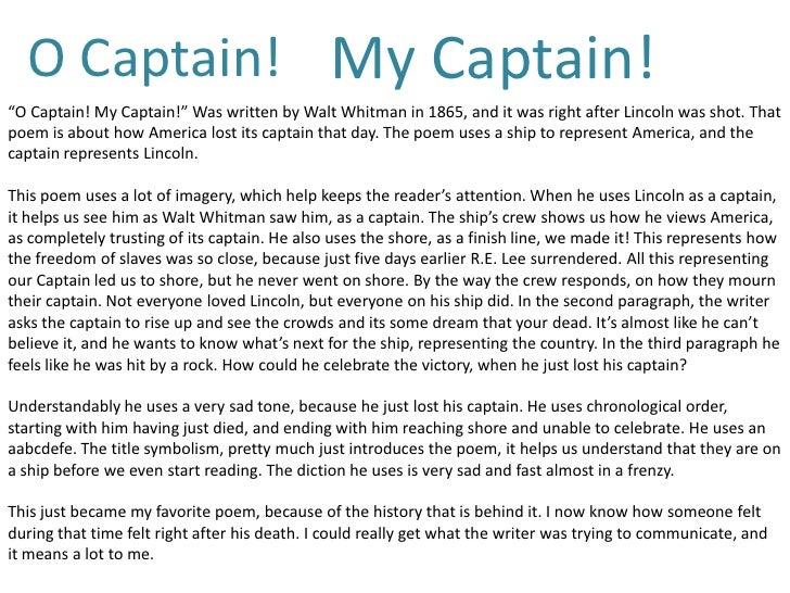 o captain my captain essay introduction