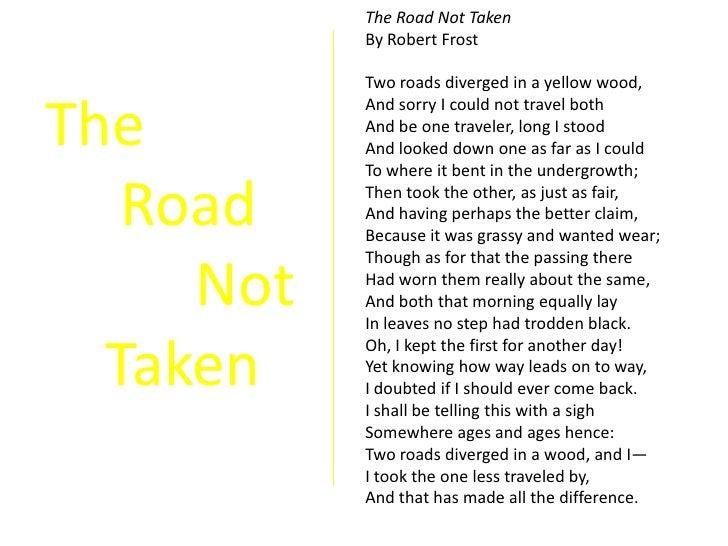 diction road not taken robert frost
