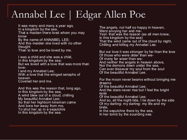 edgar allan poe annabel lee poem
