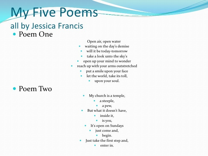 Worksheets Water Poems That Rhyme poetry dedication project by jessica francis 13