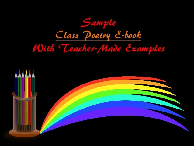 Sample Class Poetry E-book With Teacher-Made Examples