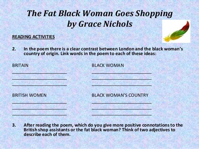 fat black woman goes shopping
