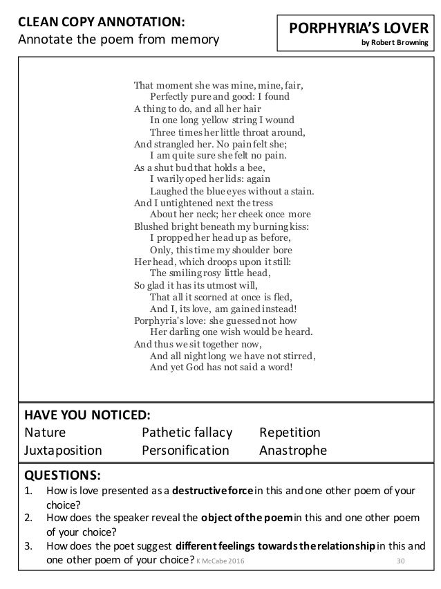 Aqa Poetry Guide Love And Relationships Cluster