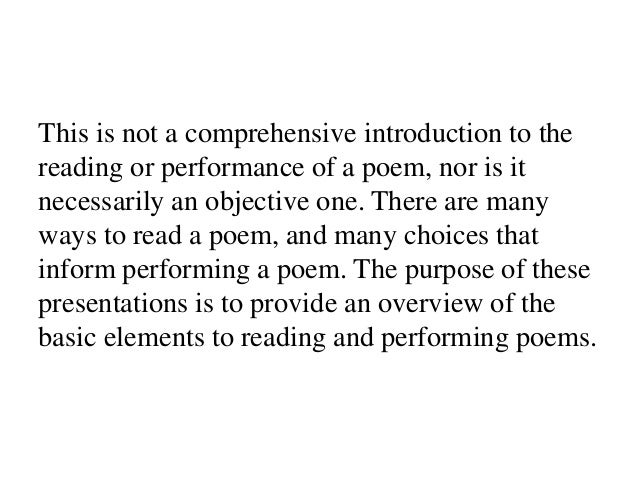 Poetry in performance 1 language