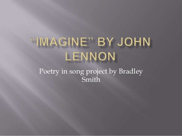 Poetry in song project by Bradley             Smith