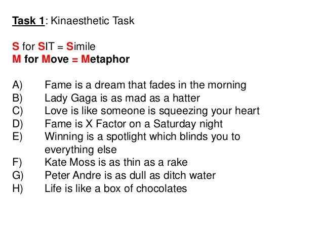 Extended Metaphor Poems 6
