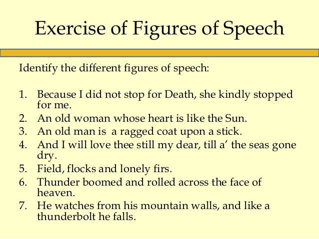 Poetry – Figures of Speech Worksheet