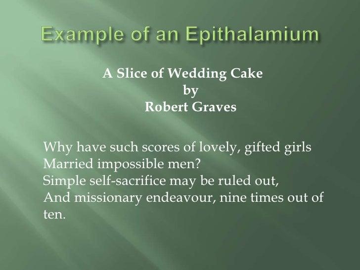 A Slice Of Wedding Cake Robert Graves