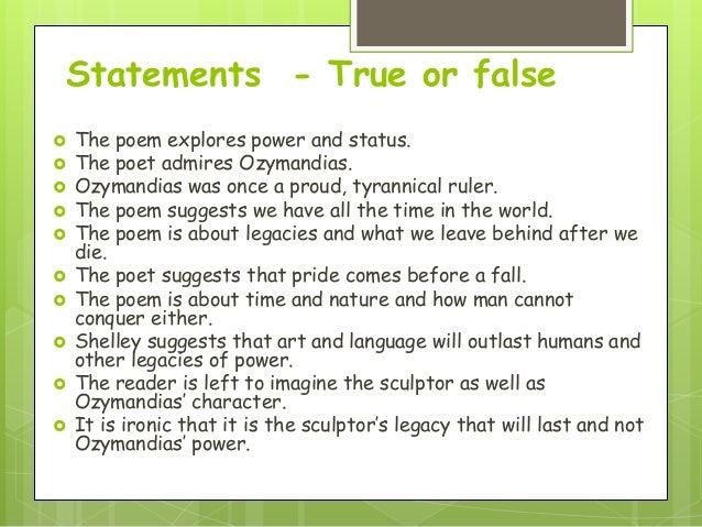 Poetry lesson 1 Ozymandias